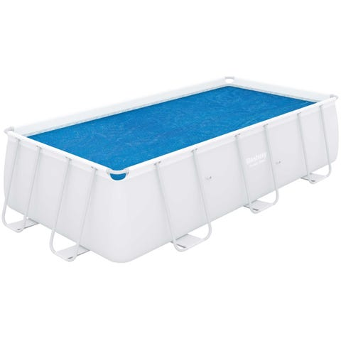 "Bestway Flowclear 13ft 3"" x 6ft 7"" Above Ground Rectangular Pool Solar Cover"