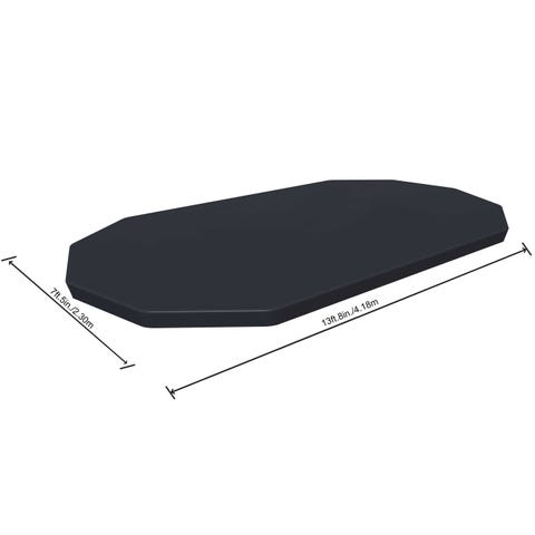 """Flowclear 14ft x 8ft 2"""" Above Ground Oval Frame Pool Debris Cover"""